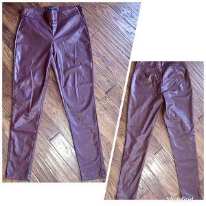 Ann Taylor imitation leather pants